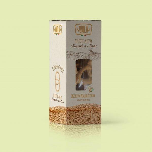 biscotti a otto all'olio extravergine d'oliva in scatola